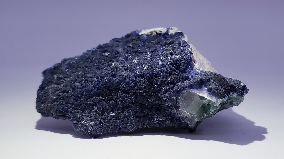 Inky Blue Fluorite on Matrix from Inner Mongolia
