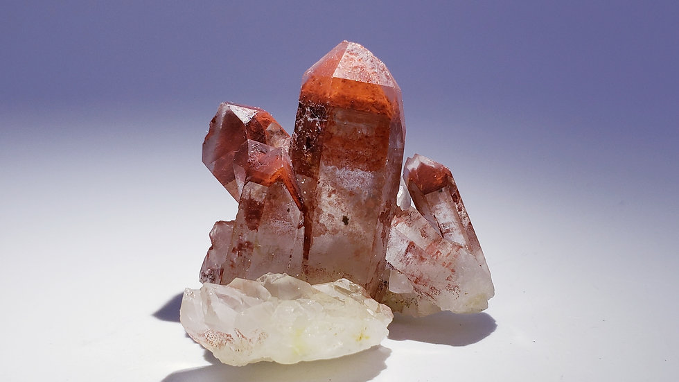 Red Hematite Phantom Quartz Cluster from Orange River, Namibia