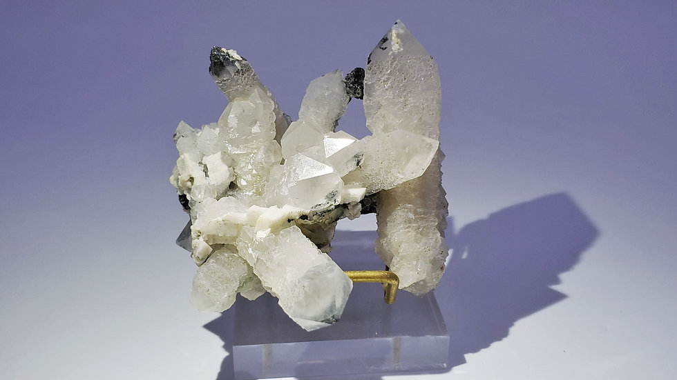 Collector's Piece: Quartz with Hematite and Dolomite from Huanggang Mine