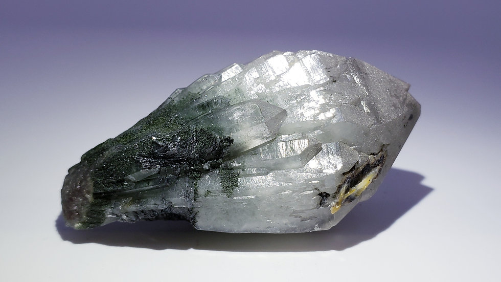 Mongolian Quartz With Hematite and Hedenbergite Inclusions