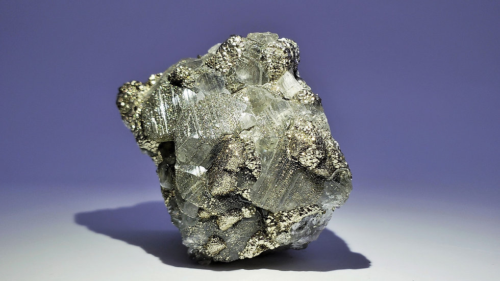 Chalcopyrite on Calcite from Daye Copper Mine