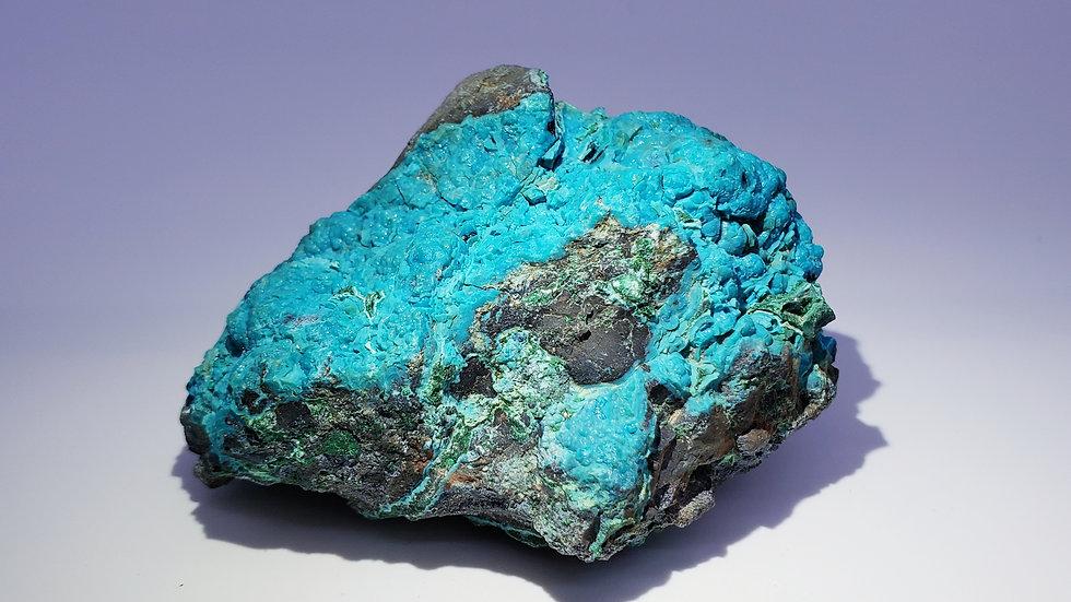 Chrysocolla Pseudomorph Malachite from Star of the Congo Mine