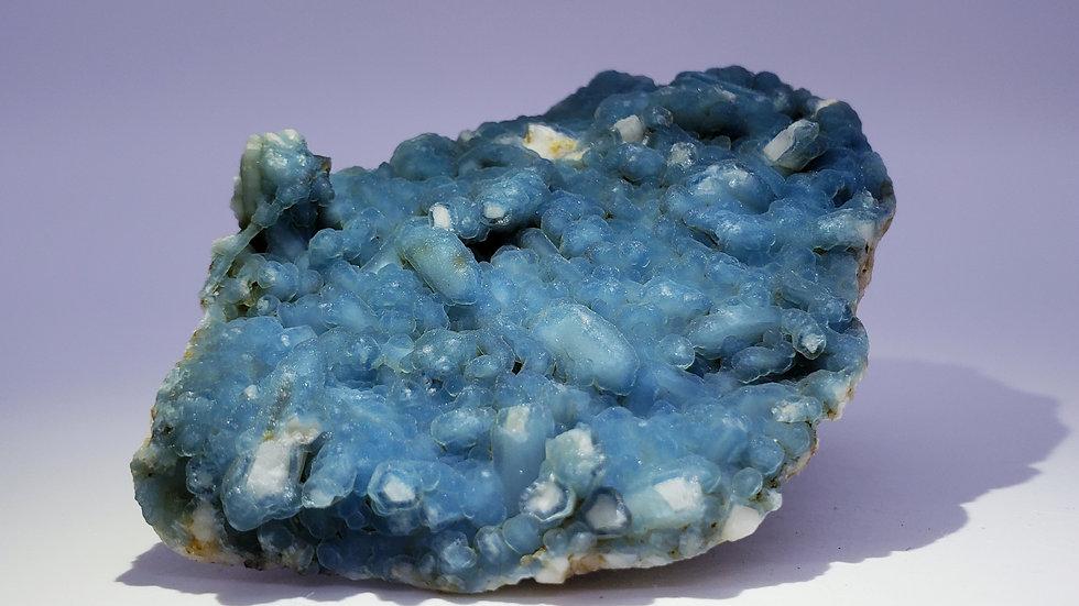 Blue Plumbogummite from Yangshuo Mine, Yangshuo Co., Guilin, China