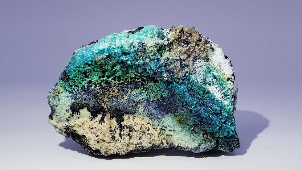 Chrysocolla Gibbsite and Malachite Mineral Specimen from Guizhou, China
