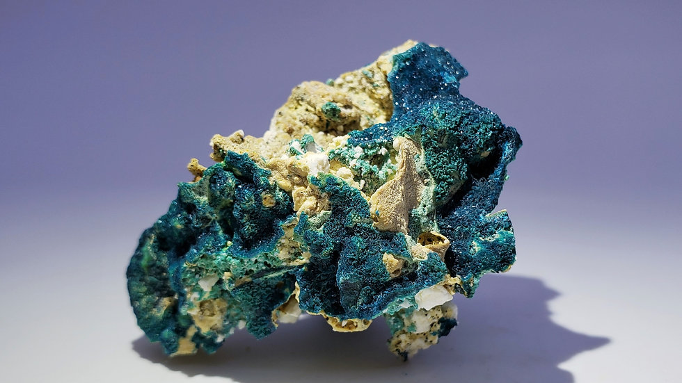Collector's Piece: Veszelyite and Gibbsite on Matrix from Laochang Mine, China