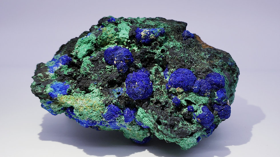 Botryoidal Azurite and Malachite from Liufengshan Mine, China