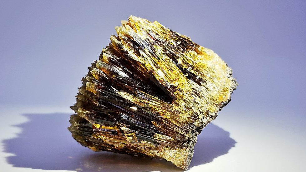"""Arrow"" Calcite Specimen with Rainbow Iridescent from Qinglong Mine, China"