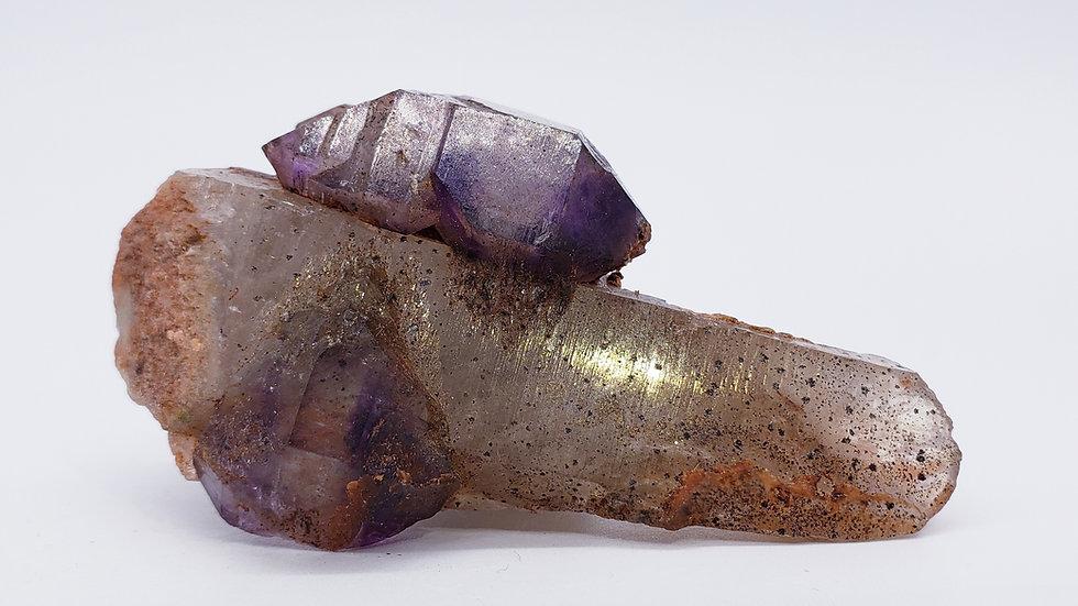 Quartz var. Amethyst with Goethite and Hematite from Madagascar