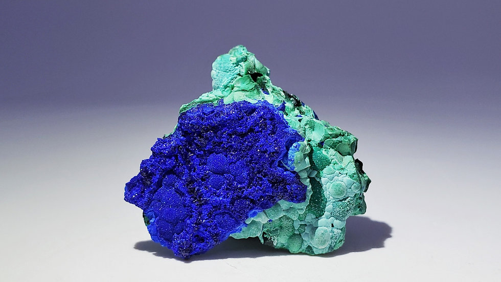 Azurite with Chrysocolla from Liufengshan Mine