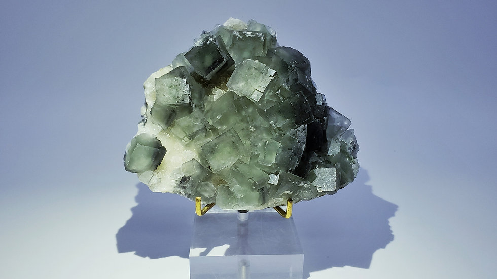 Collector's Piece: Green Fluorite on Botryoidal Quartz from Xianghuapu Mine
