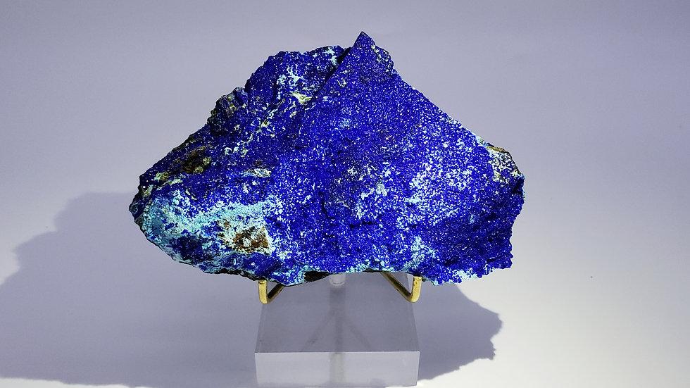 Azurite on Gibbsite with Malachite and Goethite from Yangwan Cu deposit, Wenshan