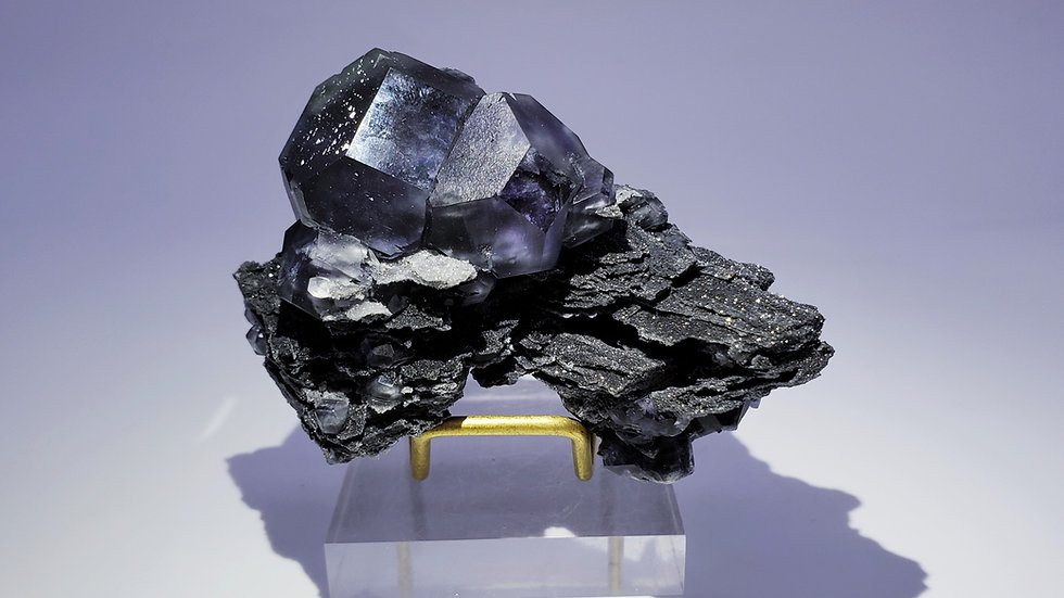 Collector's Piece: Fluorite on Quartz from Xiayang Mine, Fujian, China