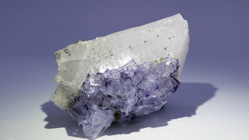 Phantom Purple Fluorite and Quartz, Yaogangxian Mine
