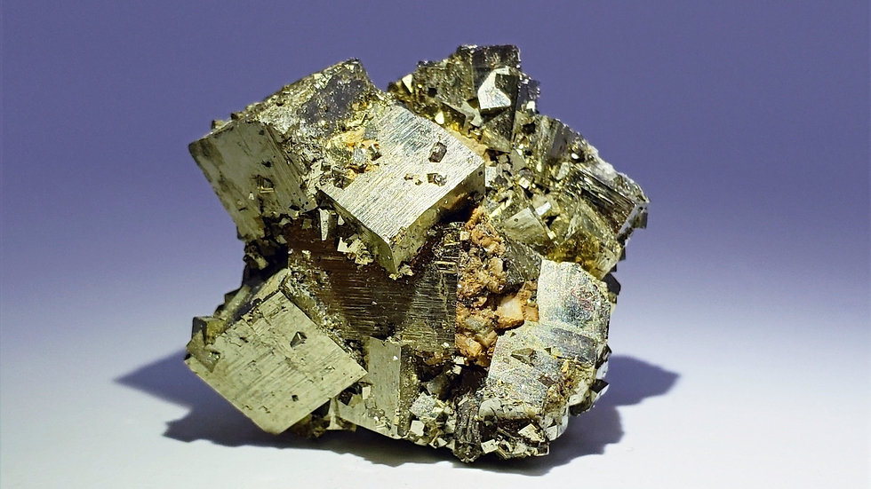 Cubic Pyrite with Dolomite from Shangbao Mine, China
