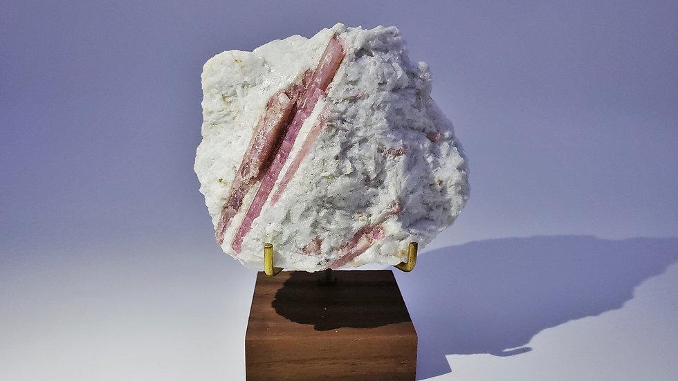 Elbaite var. Rubellite Tourmaline in Quartz from Minas Gerais, Brazil