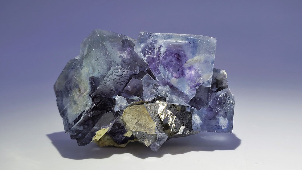 Collector's Piece: Phantom Fluorite with Arsenopyrite and Dolomite from Yaogangx