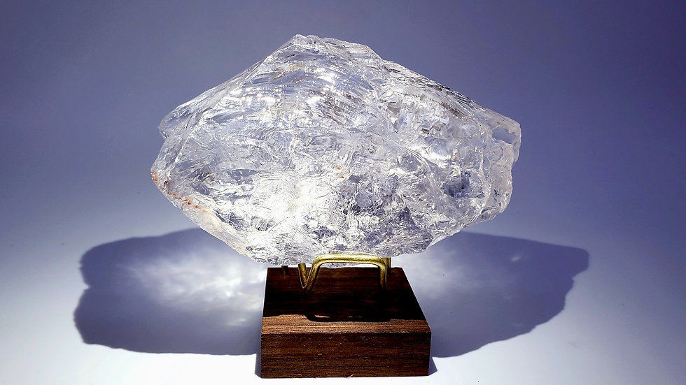 Collector's Piece: Large Satyaloka Azeztulite Quartz Crystal from South India