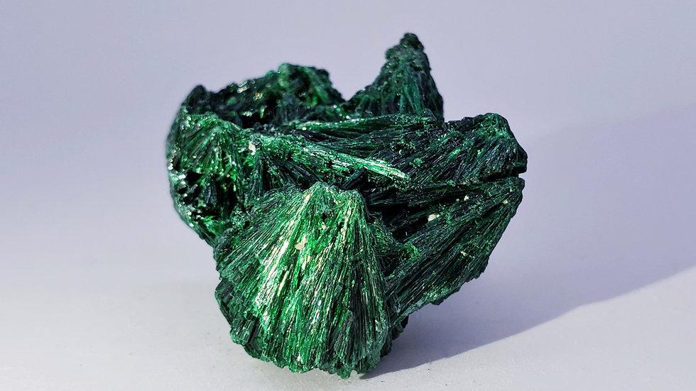 Fibrous Malachite from Mashamba West Mine, Lualaba, DR Congo