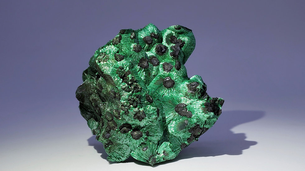 Collector's Piece: Goethite on Malachite from Sepon Mine, Laos