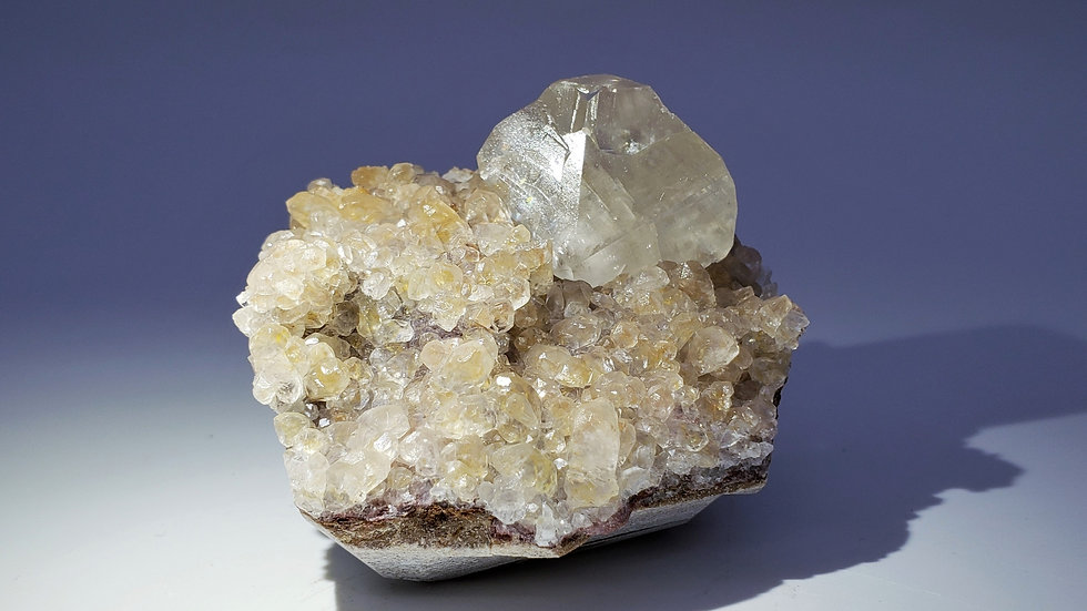 Collector's Piece: Calcite on Calcite Mineral Specimen from Daye Copper Mine