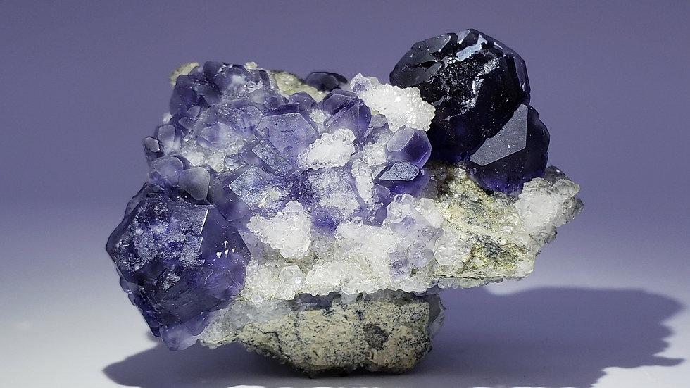 Fluorite and Calcite from Xiayang, Fujian, China