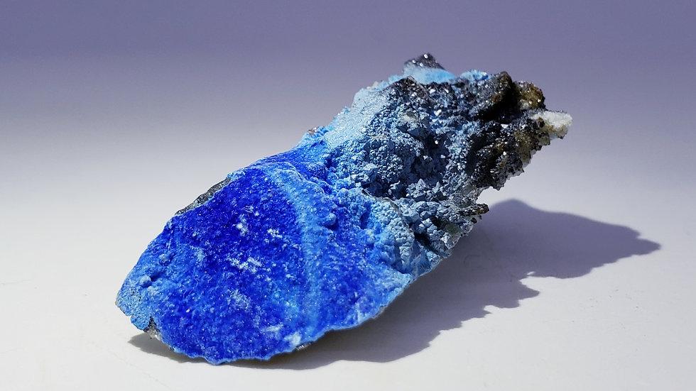 Carbonate Cyanotrichite on Limestone Matrix from Qinglong Mine, China