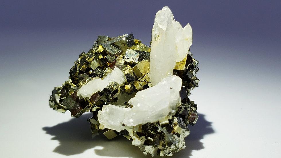Pyrite and Quartz from Shangbao Mine, China