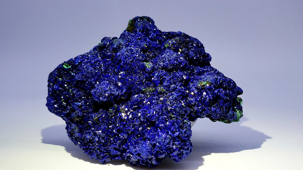 Sparkly Azurite on Matrix from Sepon Mine, Laos