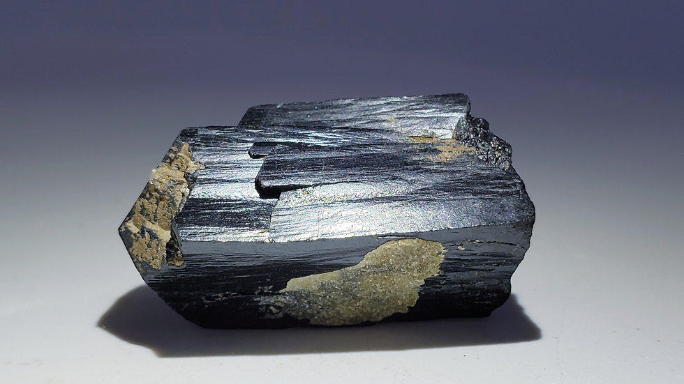 Ilvaite with Druzy Quartz from Huanggang Mine, Inner Mongolia