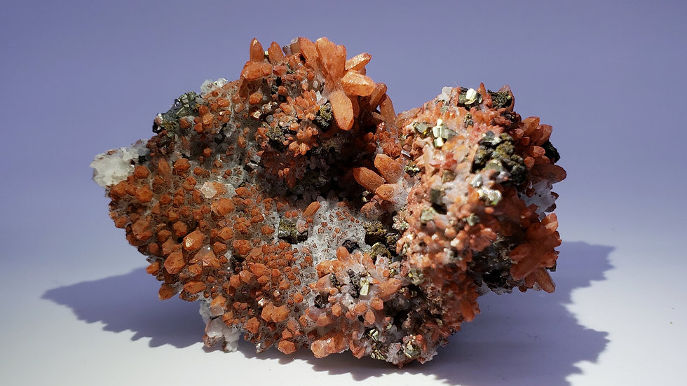 Red Hematite Included Quartz with Pyrite from Dongxiang Co., China