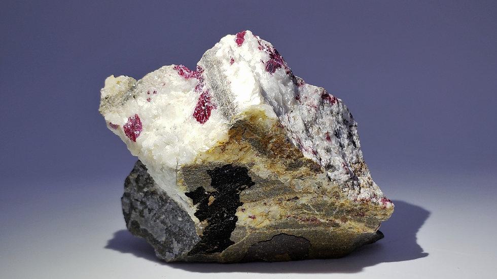 Cinnabar on Dolomite from Wanshan Mine, China
