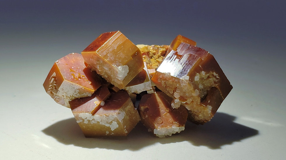 Collector's Piece: Vanadinite on Matrix from ACF Mine, Mibladen, Morocco