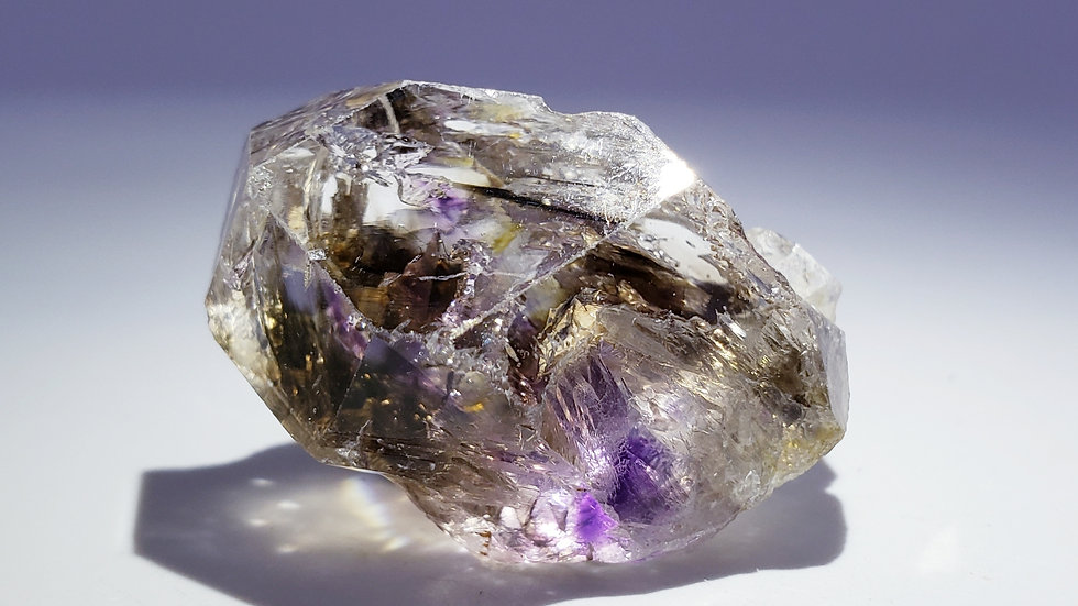 Enhydro Brandberg Amethyst Smoky Quartz Crystal from Namibia