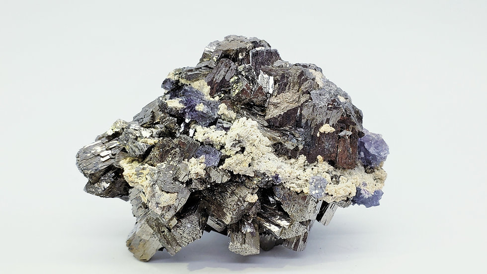 Collector's Piece: Arsenopyrite with Fluorite and Mica from Yaogangxian Mine