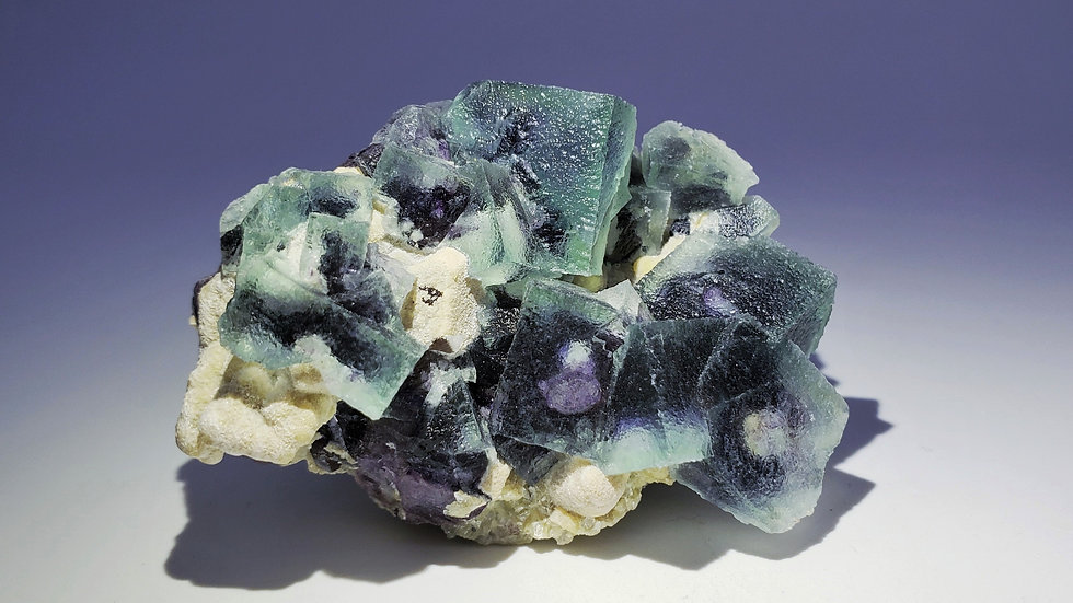 Collector's Piece: Fluorite with Mica from Weilasituo Silver Mine, Mongolia