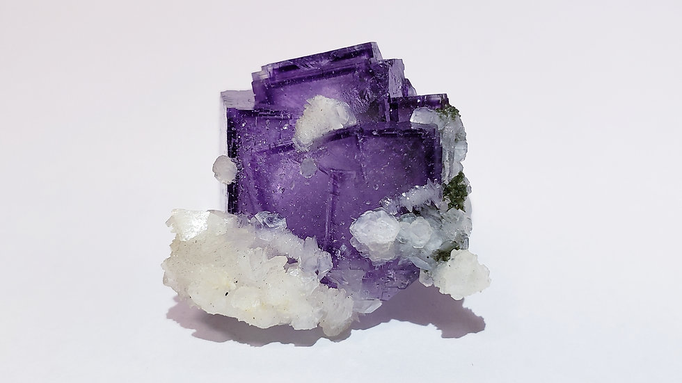 Phantom Purple Fluorite from Yaogangxian Mine, China