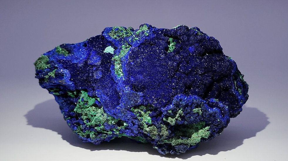 Collector's Piece: Azurite and Malachite from Laos