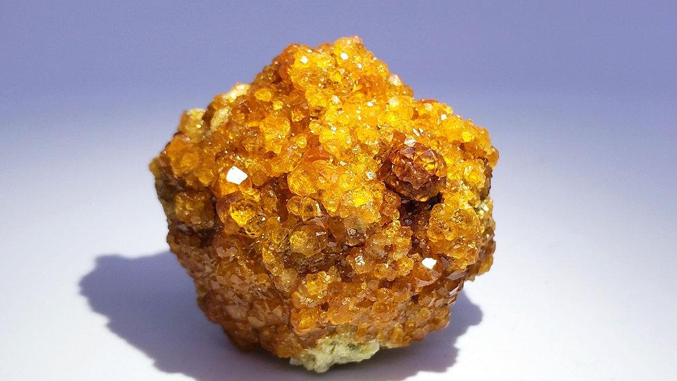 Spessartine Garnets on Feldspar from Wushan Mine, China