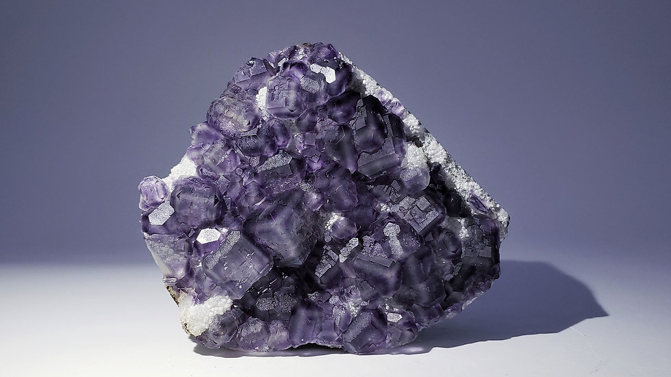 Collector's Piece: Color Change Fluorite on Quartz from Yongchun Co., China