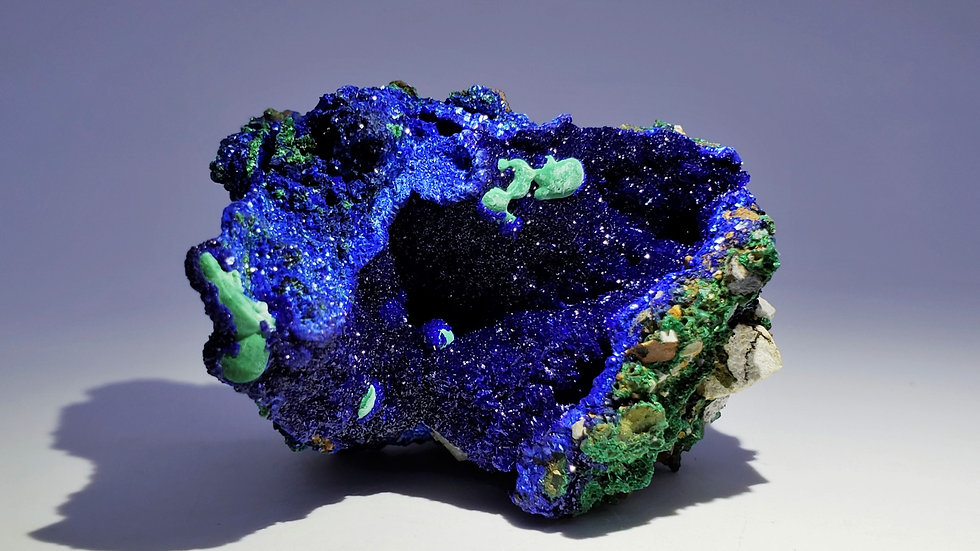 Collector's Piece: Azurite and Malachite from Sepon Mine, Laos