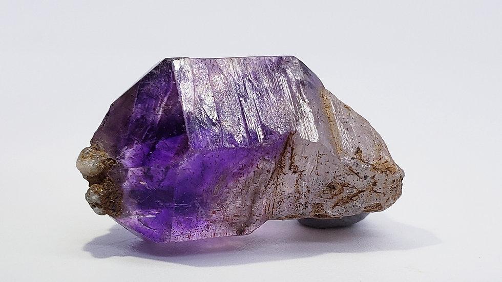 Vivid Purple Brandberg Amethyst Smoky Quartz Crystal Scepter from Namibia