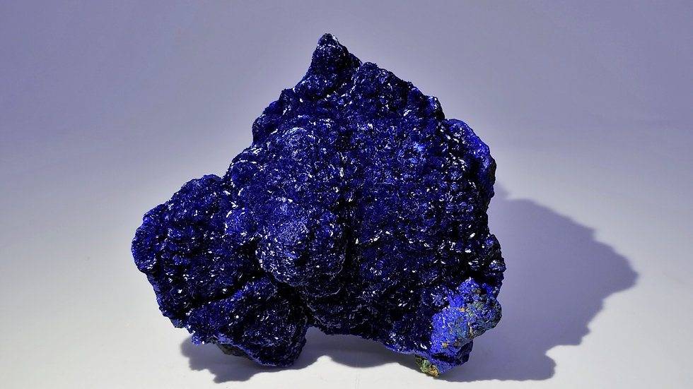 Collector's Piece: Rare Silky Azurite from Liufengshan Mine, China