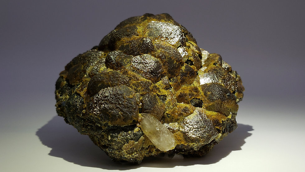 Museum Quality: Mongolian Andradite Garnet Crystal Cluster