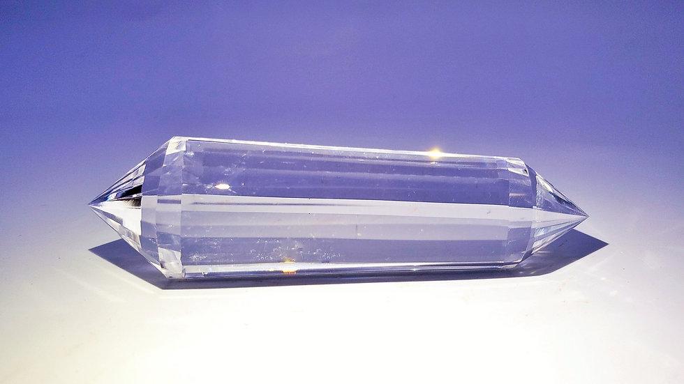 Vogel Quartz Crystal Wand (24-Faceted)