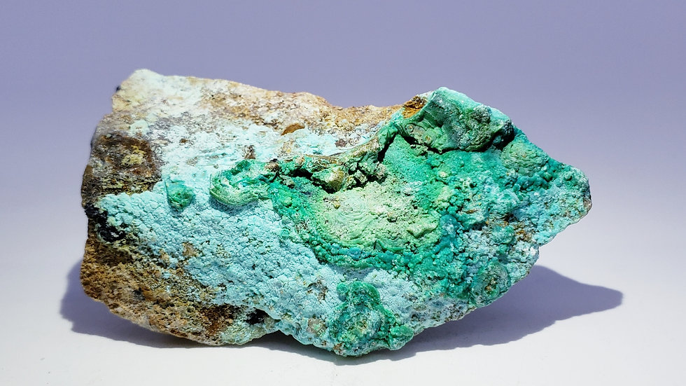 Chrysocolla Gibbsite and Malachite from Qinglong Mine, China