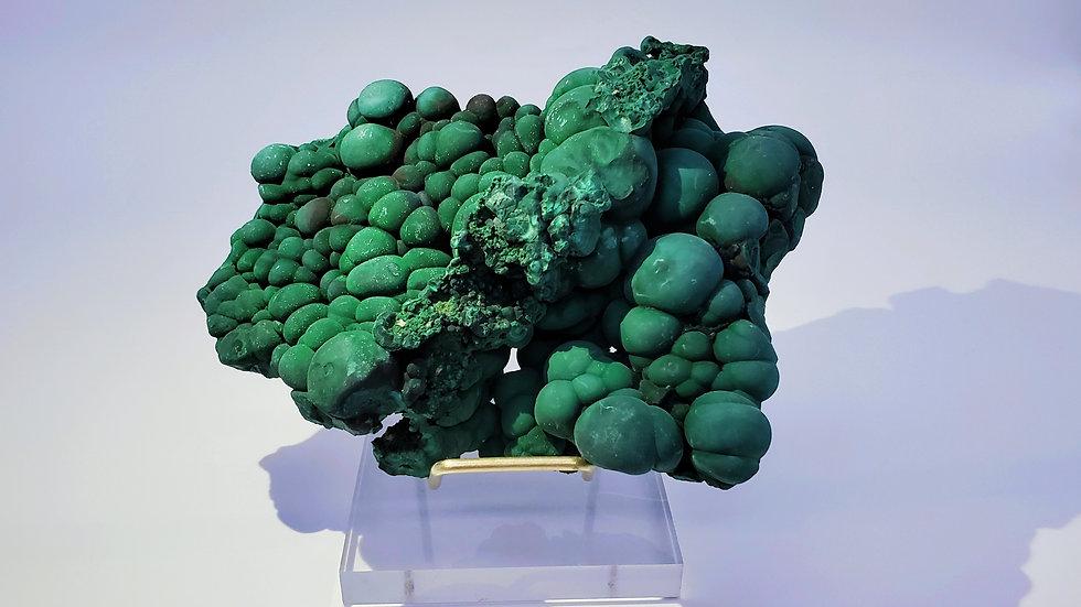 Malachite with Goethite from Daye Copper Mine, China