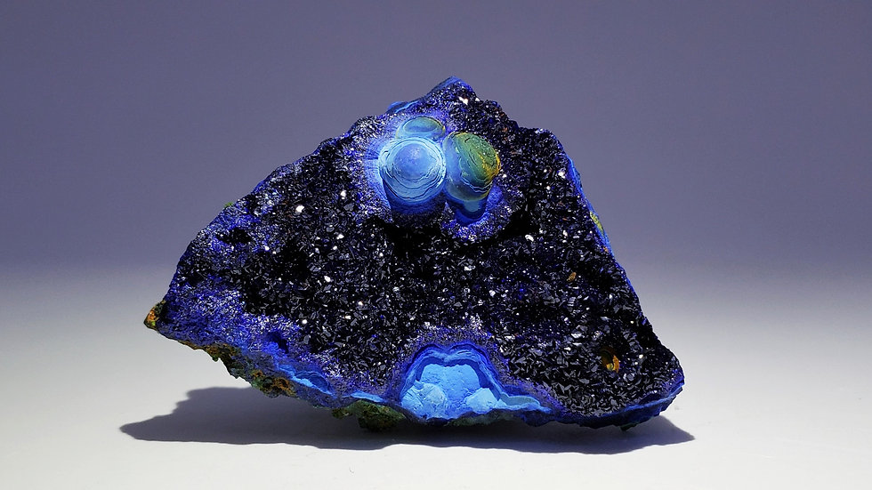Collector's Piece: Azurite with Chrysocolla from Liufengshan Mine, Anhu, China