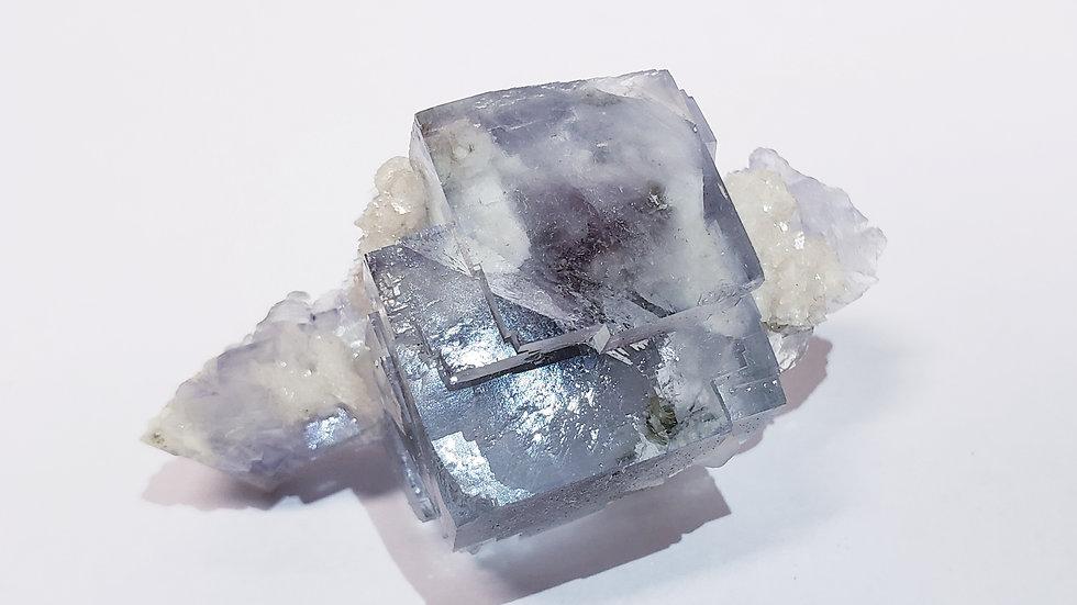 Aqua Blue Fluorite, Dolomite and Epidote from Yaogangxian Mine, China