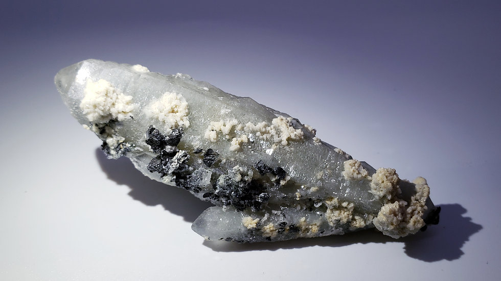 Chlorite Included Quartz with Feldspar and Specularite from Inner Mongolia