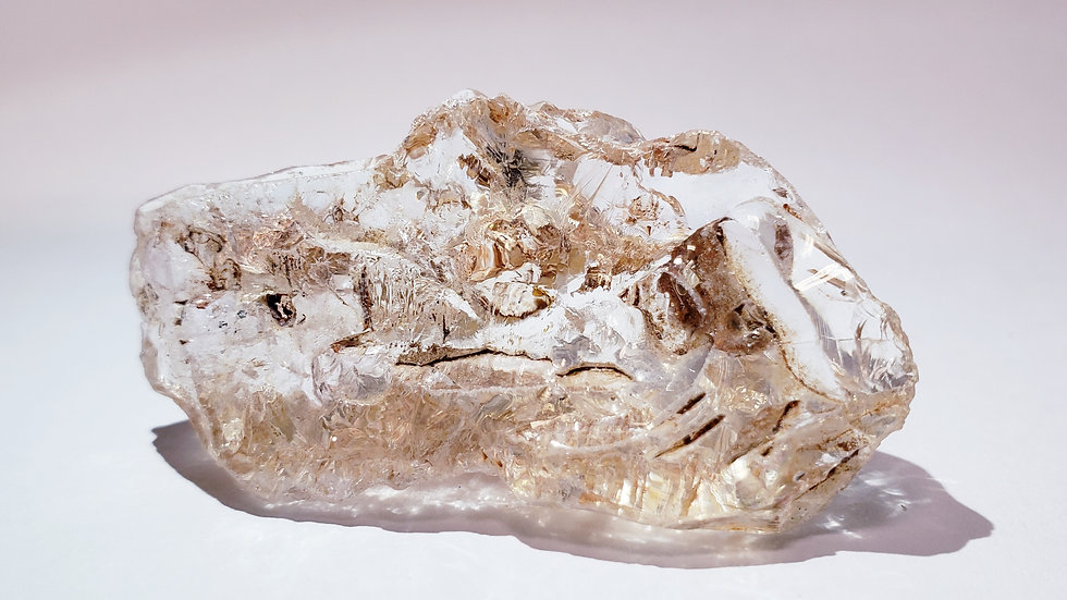 Fenster Quartz with Clay Inclusions from Namibia